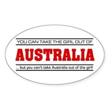 'Girl From Australia' Stickers