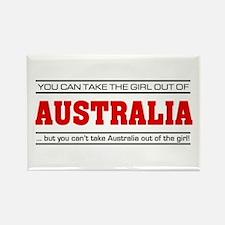 'Girl From Australia' Rectangle Magnet