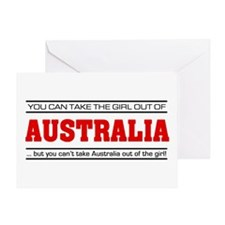 'Girl From Australia' Greeting Card