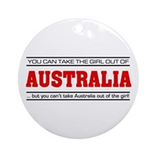 'Girl From Australia' Ornament (Round)