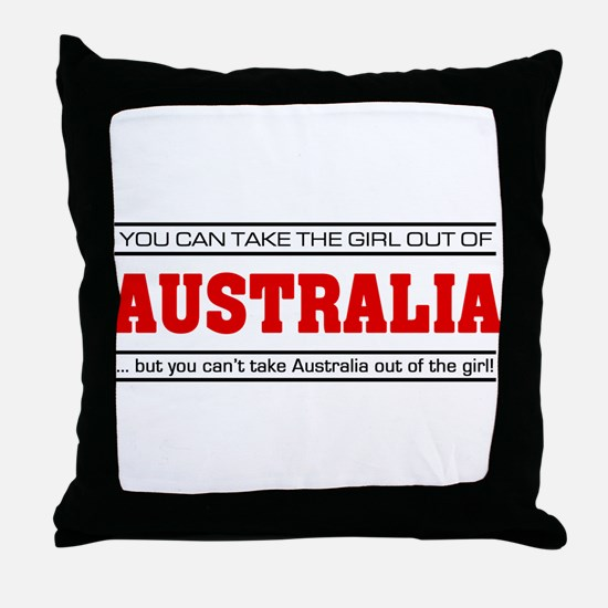 'Girl From Australia' Throw Pillow
