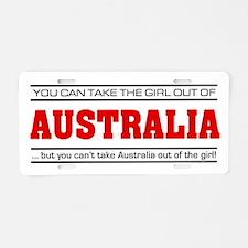 'Girl From Australia' Aluminum License Plate