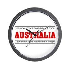 'Girl From Australia' Wall Clock
