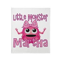 Little Monster Martha Throw Blanket