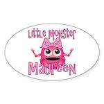 Little Monster Maureen Sticker (Oval)
