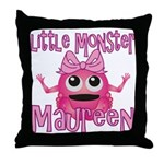 Little Monster Maureen Throw Pillow