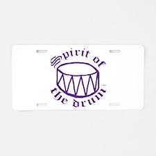 SPIRIT OF THE DRUM™ Aluminum License Plate