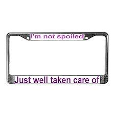Taken care License Plate Frame