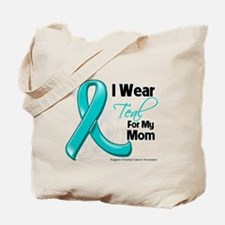 I Wear Teal Mom Ovarian Cancer Tote Bag