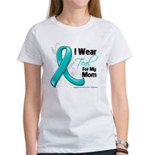 I Wear Teal Mom Ovarian Cancer Tee