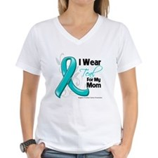 I Wear Teal Mom Ovarian Cancer Shirt