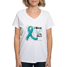 I Wear Teal Mom Ovarian Cancer Shirt