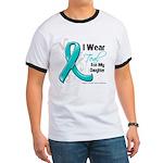 Teal Daughter Ovarian Cancer Ringer T