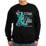 Teal Daughter Ovarian Cancer Sweatshirt (dark)