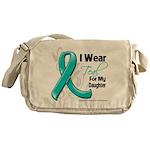 Teal Daughter Ovarian Cancer Messenger Bag