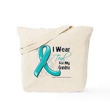 Teal Grandma Ovarian Cancer Tote Bag