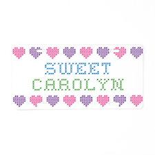 Sweet CAROLYN Aluminum License Plate