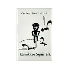 Cycling Hazard - Kamikaze Squ Rectangle Magnet