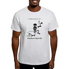 Cycling Hazard - Kamikaze Squ T-Shirt
