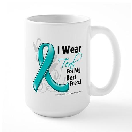 Best Friend Ovarian Cancer Large Mug