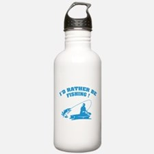 I'd rather be fishing ! Water Bottle