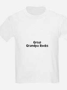 Great Grandpa Rocks Kids T-Shirt