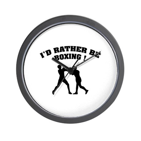 I'd rather be boxing ! Wall Clock