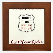 TFE Get Your Kicks Framed Tile