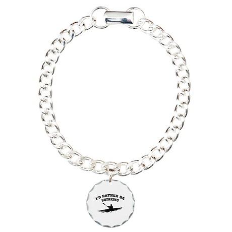 I'd rather be kayaking Charm Bracelet, One Charm