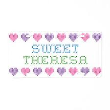 Sweet THERESA Aluminum License Plate