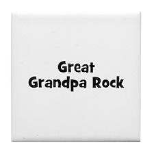 Great Grandpa Rock Tile Coaster