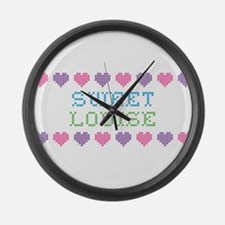Sweet LOUISE Large Wall Clock