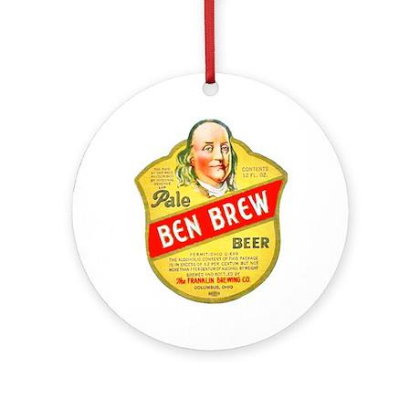 Ohio Beer Label 5 Ornament (Round)