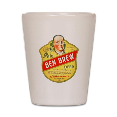 Ohio Beer Label 5 Shot Glass