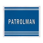 Patrolman Blues Throw Blanket
