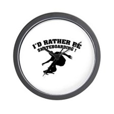 I'd rather be skateboarding ! Wall Clock