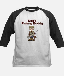 Dad's Fishing Buddy Kids Baseball Jersey