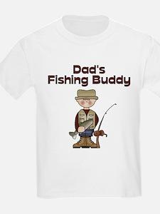 Dad's Fishing Buddy Kids T-Shirt