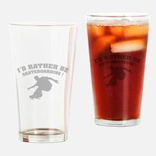 I'd rather be skateboarding ! Drinking Glass