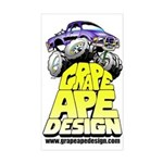 Grape Ape Design Sticker (Rectangle)