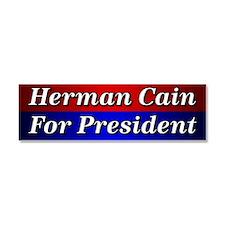 Herman Cain For President Car Magnet 10 x 3