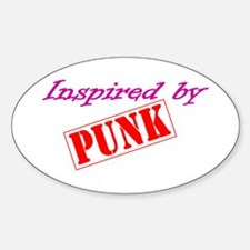 Inspired By Punk Sticker (Oval)