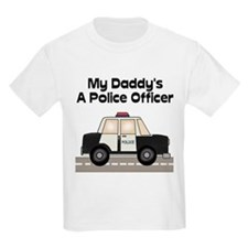 My Daddy's A Police Officer Kids T-Shirt