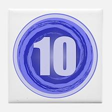 10th Birthday Tile Coaster