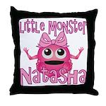 Little Monster Natasha Throw Pillow