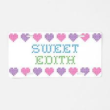 Sweet EDITH Aluminum License Plate