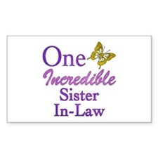 One Incredible Sister-In-Law Decal