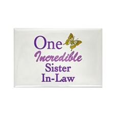 One Incredible Sister-In-Law Rectangle Magnet