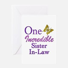 One Incredible Sister-In-Law Greeting Card