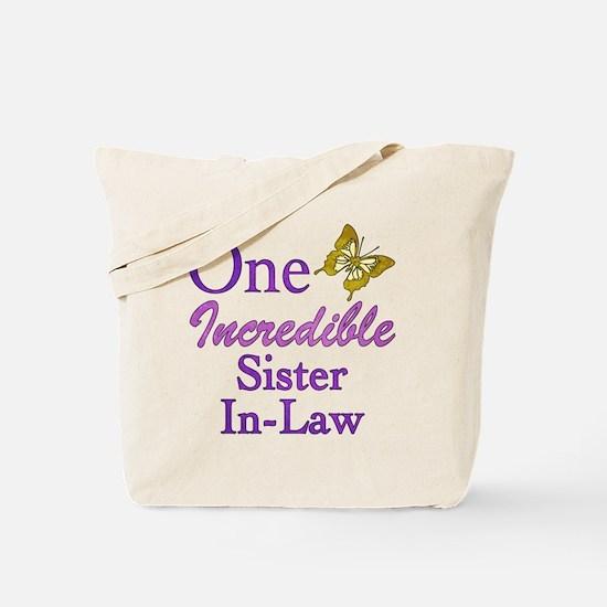One Incredible Sister-In-Law Tote Bag